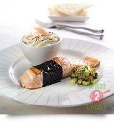 Nori Wrapped Salmon with Mint & Avocado Salsa