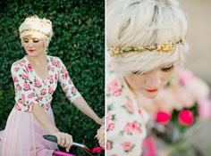 short hair// Imaginale Design Blog | Phoenix Lifestyle and Wedding Photographer: Bicycle Beauty