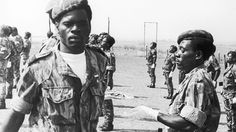 """""""Os Flechas """" (The Arrows), native Angolan paramilitary group created by the Portuguese secret Service - African Colonial War 1961-74"""