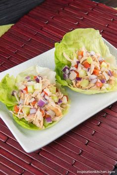 These Healthy Chipotle Chicken & Vegetable Lettuce Wraps have an amazing {slightly spicy} Chipotle flavor with extra crispy, crunchy vegetables. Paleo Recipes, Cooking Recipes, Cooking Ideas, Free Recipes, Dinner Recipes, Healthy Snacks, Healthy Eating, Healthy Cooking, Low Carb Side Dishes