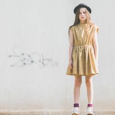 Morley Dance Dress in Camel by GRO Company
