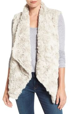 Dylan Draped Faux Fur Vest available at #Nordstrom