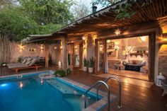 Tongabezi is a luxury lodge in Victoria Falls. The lodge consists of seven private luxury houses and cottages located on the banks of the Zambezi River in Zambia.