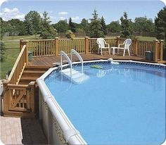 4 Great Above-Ground Swimming Pool Ideas. above ground pool deck ideas, above ground pool ideas, above ground pool landscape ideas, above ground pool landscaping. Oval Above Ground Pools, Best Above Ground Pool, Above Ground Swimming Pools, In Ground Pools, Deck Ideas For Above Ground Pools, Above Ground Pool Liners, Oberirdische Pools, Cool Pools, Decks Around Pools