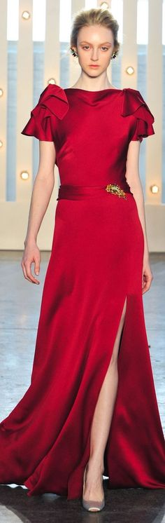 Jenny Packham ~ Evening Gown, Red
