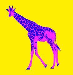 Quadro moderno pop-art stampa su tela camera bambini arredamento casa giraffa