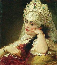 К.Е.Маковский Девушка в жемчужном ожерелье Русские красавицы глазами художников…