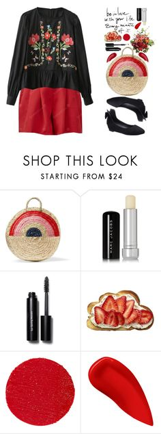 """""""Untitled #2781"""" by beebeely-look ❤ liked on Polyvore featuring Vanessa Seward, Marc Jacobs, Bobbi Brown Cosmetics, Lipstick Queen and Surratt"""