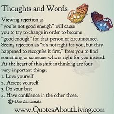 Quotes About Living - Doe Zantamata: Thoughts and Words - Rejection