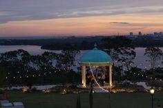 Sunset in Brasília at Villa Giardini's garden