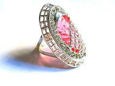 Sterling Silver 15Kt Pink Sapphire & White Topaz by MoodTherapy