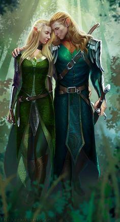 rei e rainha da floresta