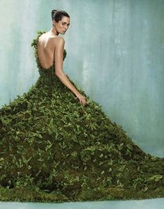 Forest dress: Moss & Leaves I so would. Then I could plant my dress after the event.