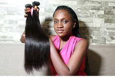Faddishair 3 Pcs Virgin Hair Bundle Deals Straight Brazilian Hair