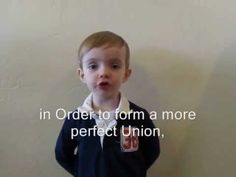 3 year-old kid reciting Preamble to the U.S. Constitution