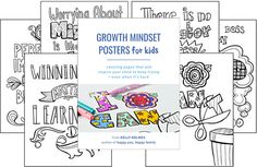 Mindset posters that will inspire your child to keep trying