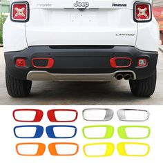 Us 15 98 11 Off Aliexpress Mopai Abs Car Exterior Rear Tail Per Tow Hook Decoration Cover Stickers For Jeep Renegade 2017