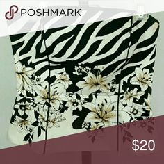 White House Black Market Corset Top Cami Gorgeous zebra and floral print. Back zipper. Fully lined with boning. Figure flattering. White House Black Market Tops Camisoles