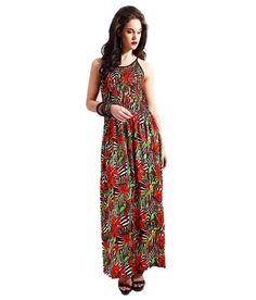 Samor Hummingbird Print Satin Maxi Dress With Pin Tucks All Over Front And Back, http://www.snapdeal.com/product/samor-hummingbird-print-satin-maxi/1977074934