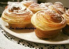 Cruffin   Rédeiné - Varga Éva receptje - Cookpad receptek Crescent Rolls, Croissants, Fondant, Muffins, Food And Drink, Sweets, Cookies, Breakfast, Recipes