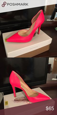 Jessica Simpson Pumps Hot pink pumps, only been worn out once to dinner Jessica Simpson Shoes Heels