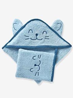 Capa de banho com capuz bordado com animal, para bebé