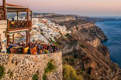 "Greece. Santorini.Sunset on Fira Go to http://iBoatCity.com and use code PINTEREST for free shipping on your first order! (Lower 48 USA Only). Sign up for our email newsletter to get your free guide: ""Boat Buyer's Guide for Beginners."""
