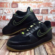f30ed6671b Nike Mens Air Force 1 Shoes Black sz 9 Trainers Sneaker US 10 EU 44 Love  Toronto