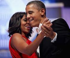 obama.  I love how into his wife he is.  :)