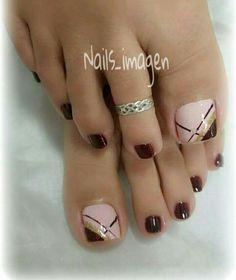 Toe Nail Designs, Toe Nails, Hair Beauty, Tattoos, Hair Styles, Toenails Painted, Pretty Toe Nails, Simple Toe Nails, Classy Gel Nails