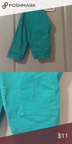 Turquoise pants Good condition. Very comfortable Pants Straight Leg