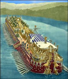 King Ptolemy IV's barge.  From http://xenohistorian.faithweb.com/africa/