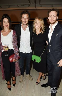 jamie-dornan1: Jamie Dornan & Amelia asistieron preview Sam Taylor-Johnson, The Second Floor 11/09/2014