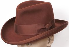 70s Imperial Stetson Reddish Brown Homburg Hat
