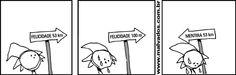 Felicidade x Mentira #tirinhas #quadrinhos