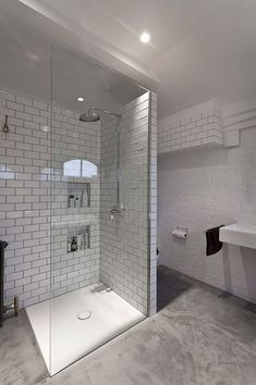 Shower tray with brick tile example (not rest of bathroom or Floor)
