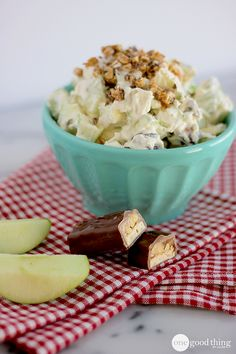 "Snickers ""Salad"" - The Salad That Doubles As Dessert! - One Good Thing by Jillee"