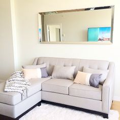 Perfect couch for my 'lil bachlorette pad! #MyUrbanBarn