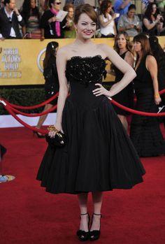 Emma looked stunning in head-to-toe custom Alexander McQueen at the 2012 SAG Awards.