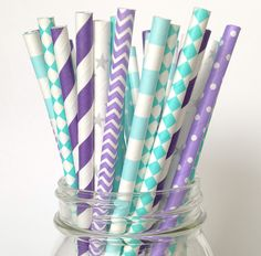 Frozen Birthday Party Paper Straws                                                                                                                                                                                 Más