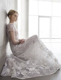 Mira Zwillinger beaded floral embellished wedding dresses 2016 stardust Lola