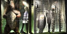 Isetan Shinjuko Christmas Windows 2014: the story of the North European Sami people | Artist:  Miroco Machiko, Japan | blog.patternbank.com