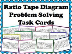 """This product includes 12 realistic ratio story problems solvable using tape diagrams. These ratio problems require the comparison of a """"before"""" and """"after"""" ratio in order to solve the problem. Thus students must create two tape diagrams in each problem in order to find the solution. The problems are real world situations in which ratios can be readily applied."""