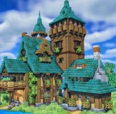 Minecraft Modern House Blueprints, Minecraft Plans, Minecraft Survival, Cool Minecraft, Minecraft Projects, Minecraft Designs, Minecraft Houses, Minecraft Construction, Exterior Design
