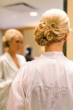 Hairstyle | On Style Me Pretty: http://www.StyleMePretty.com/tri-state-weddings/2014/02/28/traditional-westchester-wedding-at-the-ritz-carlton/ B Hull Photography