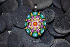 Image of Colorful Mandala Pendant Stone 25