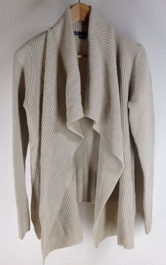 $189 VINCE Drape Front Cardigan Wool Yak  Jacket Size S Ivory Retail 395 New #Vince #Cardigan