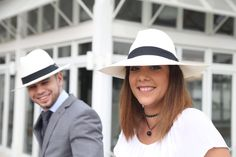 Long white Fedora, genuine Panama Hat designed by Made In Ecuador Hats