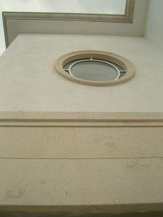 Bulgarian limestone as facade coverage.