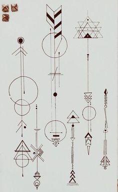Géométrique tatoos